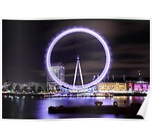 The London Eye By Night Poster