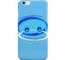 MONKEY FACE IN BLUE iPhone Case/Skin