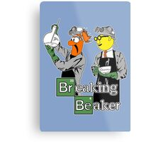 Breaking Beaker Metal Print