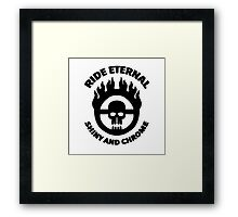 Mad Max - Warboy Skull Wheel - 'Ride Eternal Shiny and Chrome' Framed Print