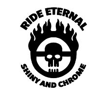 Mad Max - Warboy Skull Wheel - 'Ride Eternal Shiny and Chrome' Photographic Print