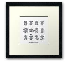ZODIAC Minimalistic Series Framed Print