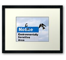 Think I Got the Human Flu  You Best Not Land Here Framed Print