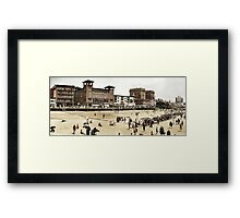 A day at the Beach, Atlantic City, 1915 Framed Print