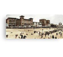 A day at the Beach, Atlantic City, 1915 Canvas Print