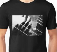 Hand Shadow on a Solar Panel Unisex T-Shirt