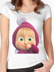 Masha and the Bear 2 Women's Fitted Scoop T-Shirt