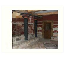 Knossos, Crete, Black Pillars Art Print
