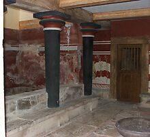 Knossos, Crete, Black Pillars by Bowen Bowie-Woodham