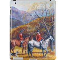 Mountain Hunt Hounds and Horses 2 iPad Case/Skin