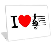 I LOVE MUSIC  Laptop Skin