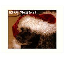 Santa Loves Peppy Art Print