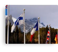 Olympic Flags - Canmore Nordic Centre Canvas Print
