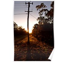 Power Pole Sunset - Nowra Poster