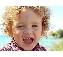 Kyle's curls Photographic Print