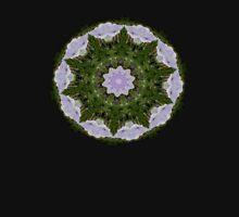 Pale Purple Morning Glories Mandala Mens V-Neck T-Shirt