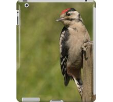 Juvenile great spotted woodpecker iPad Case/Skin