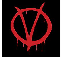 V for Vendetta - Alan Moore Photographic Print