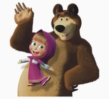 Masha and the Bear 3  Baby Tee