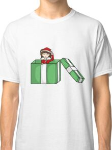 Chibi in a christmas box Classic T-Shirt