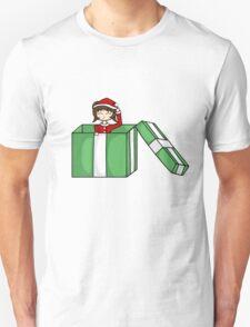 Chibi in a christmas box Unisex T-Shirt