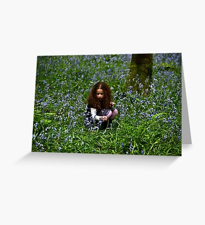 Lua in bluebells Greeting Card