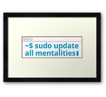 Funny code on Terminal! Framed Print