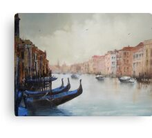 Gondolas with blue covers Metal Print