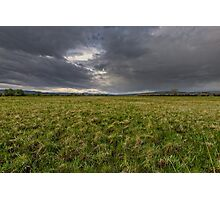 Storm over a pasture in Wyoming Photographic Print