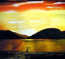 Golden Sunset - Seascape by Linda Callaghan