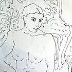Nude Study (  After Matisse) by Richard  Tuvey