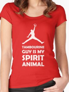 Tambourine Guy is my Spirit Animal Women's Fitted Scoop T-Shirt