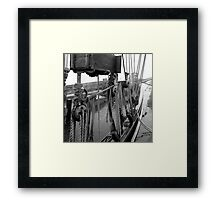Tall Ship Details Framed Print