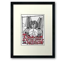 Starscream's pride Framed Print