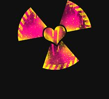 Radioactive heart Womens Fitted T-Shirt