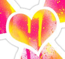Radioactive heart Sticker
