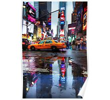 Times Square Puddle Poster