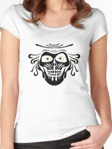 Hatbox Ghost - Wallpaper-Style Women's Fitted Scoop T-Shirt