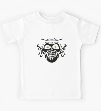 Hatbox Ghost - Wallpaper-Style Kids Tee