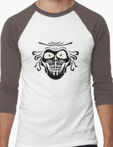 Hatbox Ghost - Wallpaper-Style Men's Baseball ¾ T-Shirt