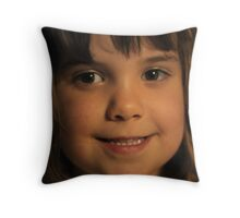 Innocence of Youth Smiles Throw Pillow