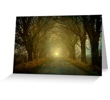 The light is coming Greeting Card