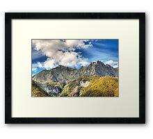 Tambura e Roccandagia Peaks Framed Print