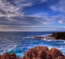 Calm day at the Blowholes. by Colin Scougall