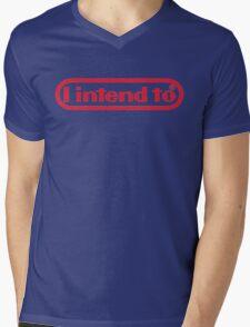 Nintendo = I Intend To Mens V-Neck T-Shirt