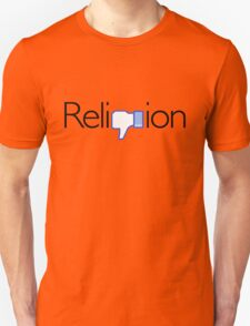 Religion? Thumbs DOWN!  (Light background) Unisex T-Shirt