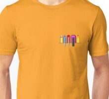 8Bit Nerd Pocket Pixels - 4 light shirt Unisex T-Shirt