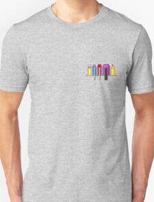 8Bit Nerd Pocket Pixels - 4 light shirt Unisex T-Shirt