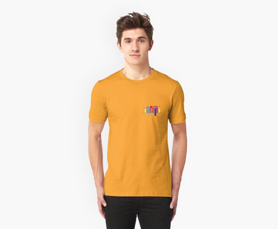 8Bit Nerd Pocket Pixels - 4 light shirt by fuxi