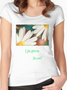 I go green Women's Fitted Scoop T-Shirt